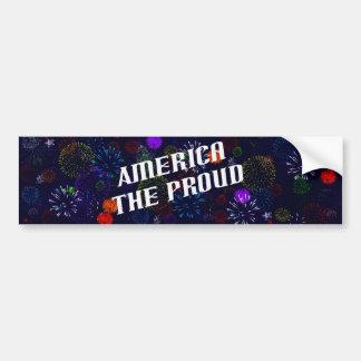 America the Proud Bumper Sticker