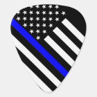 America Thin Blue Line Symbol Guitar Pick