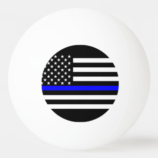 America Thin Blue Line Symbol Ping Pong Ball