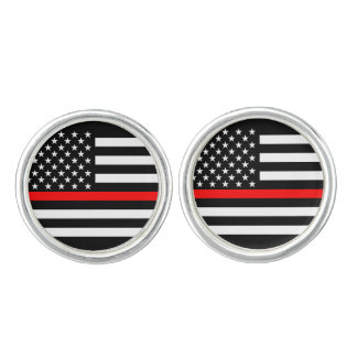 America Thin Red Line Symbol Cuff Links