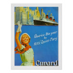 America this Year by RMS Queen Mary Print