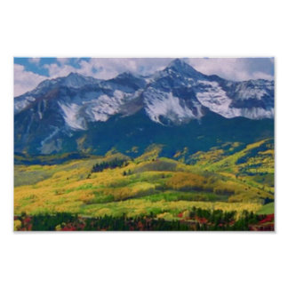 America Tree Line Olympic National Park mountain Poster