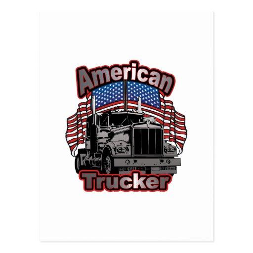 America Trucker Postcard