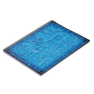 America Typographic Blueprint Notebook