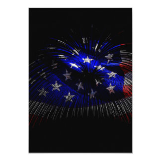 America US Flag 13 Cm X 18 Cm Invitation Card