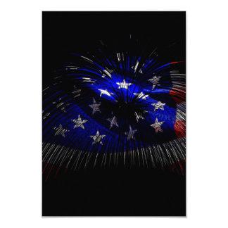 America US Flag 9 Cm X 13 Cm Invitation Card