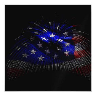 America US Flag Magnetic Invitations