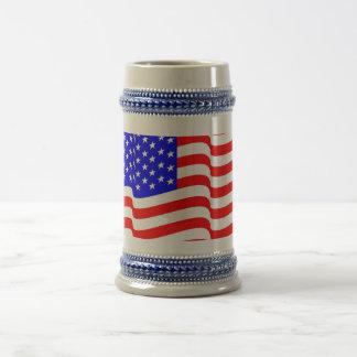 America USA Beer Mug Stein