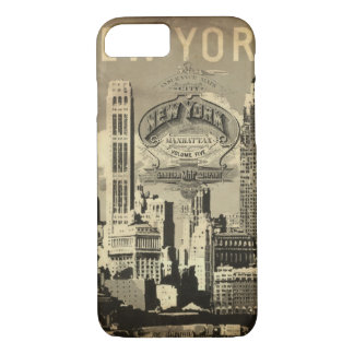 America USA travel vintage New York iPhone 8/7 Case