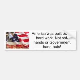 America was built out o... bumper sticker