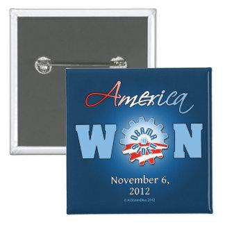 America Won On Nov. 6, 2012 15 Cm Square Badge