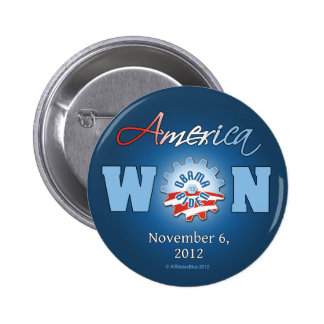America Won On Nov. 6, 2012 6 Cm Round Badge