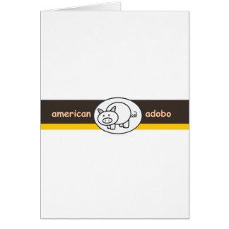 american.adobo greeting card