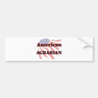 American Agrarian Bumper Sticker