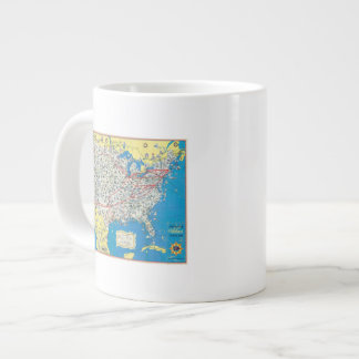 American Airlines system map Giant Coffee Mug