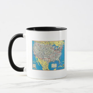 American Airlines system map Mug