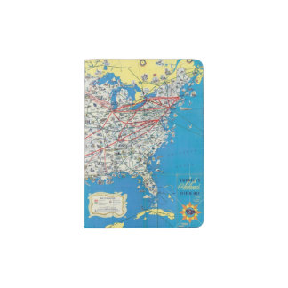 American Airlines system map Passport Holder
