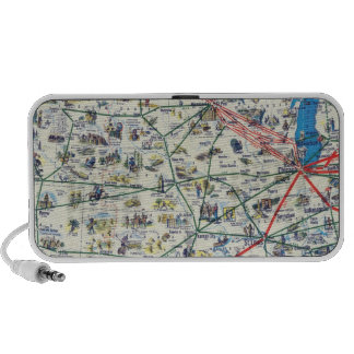 American Airlines system map Portable Speaker
