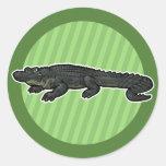 American Alligator Round Sticker