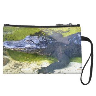 American Alligator Wristlet Clutch