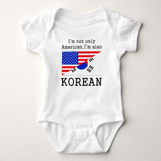 American Also Korean Baby Bodysuit