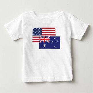 American And Australian Flag Baby T-Shirt