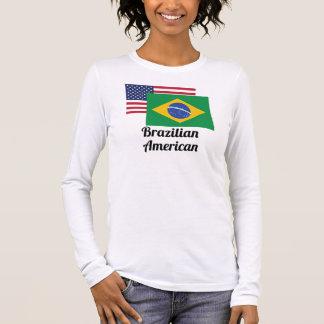 American And Brazilian Flag Long Sleeve T-Shirt