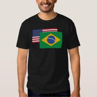 American And Brazilian Flag Shirt