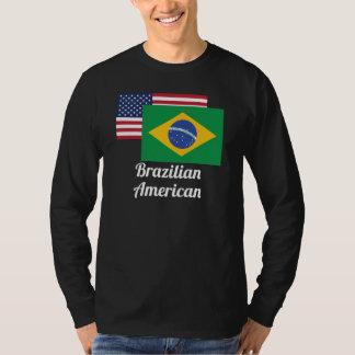 American And Brazilian Flag T Shirt