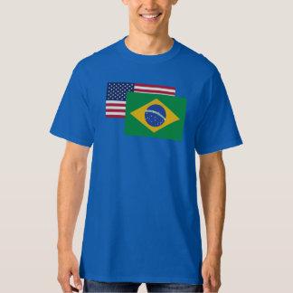 American And Brazilian Flag T-shirt
