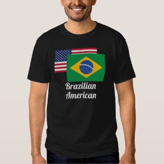 American And Brazilian Flag Tshirt