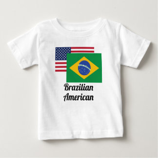 American And Brazilian Flag Tshirts