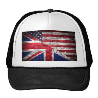American and British flag. Cap
