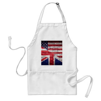 American and British flag. Standard Apron