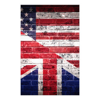 American and British flag. Stationery