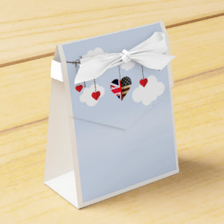American and British flags, Heart Royal Wedding Favour Box