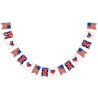 American and British flags, Royal Wedding Bunting