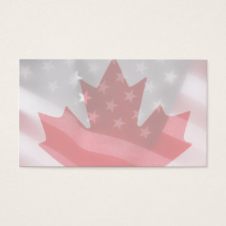 American and Canadian flags business card