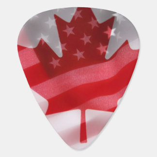 American and Canadian flags Plectrum