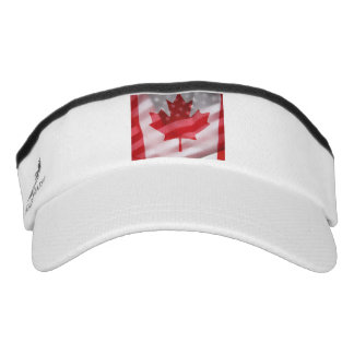 American and Canadian flags Visor
