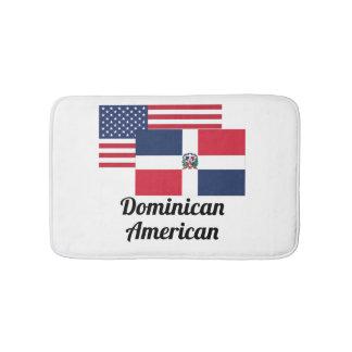 American And Dominican Flag Bath Mats