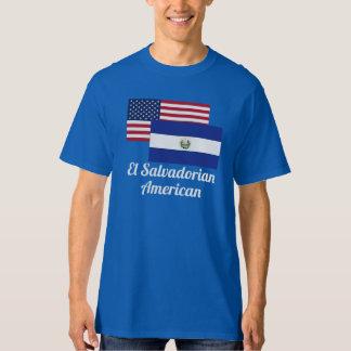 American And El Salvadorian Flag T-shirts