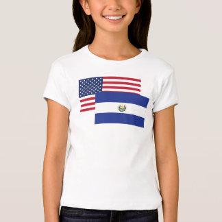 American And El Salvadorian Flag Tees