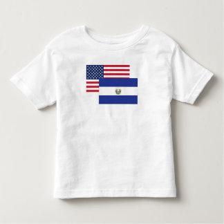 American And El Salvadorian Flag Toddler T-Shirt