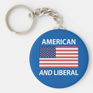 American AND Liberal Patriotic Flag Design Key Chain