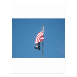 American and POW/MIA Flags Postcard