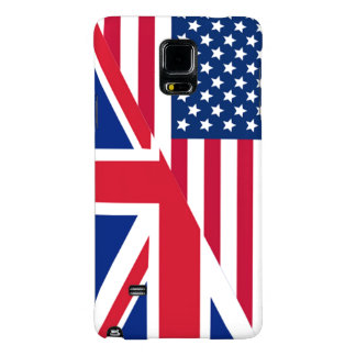 American and Union Jack Flag Galaxy Note 4 Case