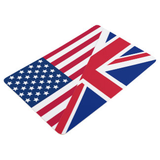American and Union Jack Flag Floor Mat