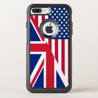 American and Union Jack Flag OtterBox Commuter iPhone 7 Plus Case