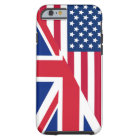 American and Union Jack Flag Tough iPhone 6 Case